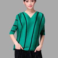 Summer Fashion V Neck Sexy Half Sleeve Designer Trendy Womens Clothing Women GYPSY Tops
