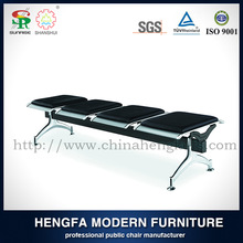 Wholesale cheap used modern padded church metal leather bench chairs for indoor wedding