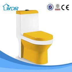Sanitary hotel porcelain yellow toilet item