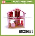 2014 novo produto atacado china madeira casa de boneca engraçado para crianças brinquedo casa de madeira do brinquedo jogo definido brinquedo castelo h028651