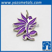 elegant purple flower pendant charm