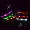 seven colors pet dog glowing collar free shipping pet dog LED flashing collar lead