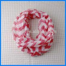 Cheap chevron small round neck scarf