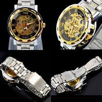 New Automatic Mechanical Watch Men Steel Belt Strap Watch Automatic Mechanical Wrist Watch