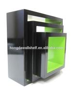 Free Standing Wooden Shelf Unit, Grid Wall Shelf