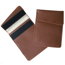 high quality block signal radiation protect cell phone leather bag