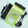 China manufacture yellow pvc promoting waterproof pouch for samsung galaxy s4 mini with headphone jack