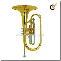 Yellow Brass Leadpipe F key Marching-Mellophone (MMF6100)