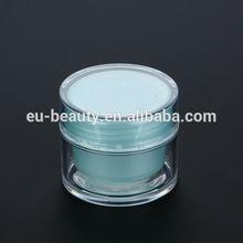 round empty cosmetic plastic jar 20ml