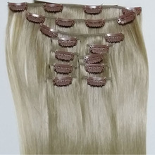 Whoesale Clip -in Heat Resistant Human Hair Mixed Synthetic Hair Extension