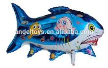 shark shaped helium mylar toy balloons for kids