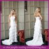 WG52014 Hottest Styles Tiered Chiffon White Bride Dress for Wedding halter top beach wedding dresses