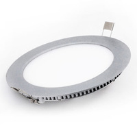 Ultra Thin Panel LED Ceiling Recessed Grid Downlight / Slim Round Panel Light