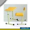 school furnitures double desk and chair school chair with writing tablet