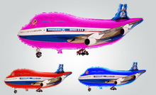 plane shaped helium mylar toy balloons for kids