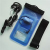 Factory price clear blue pvc promoting waterproof pouch for blackberry z30 mobile phone with headphone jack