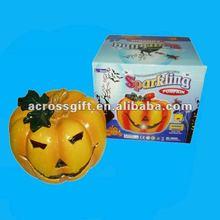 Halloween Porcelain Pumpkin Lamp