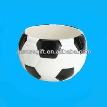 Hotsale ceramic basketball shaped bowls