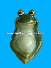Decorative painted ceramic garden frog