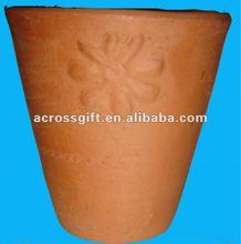 plain terracotta clay bell shape garden flower pot
