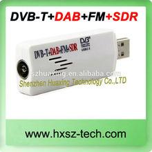 HomeCare Mini Digital USB2.0 RTL2832U R820T Receiver TV Stick with Remote Control and Antenna Support DVB-T + FM + DAB Black