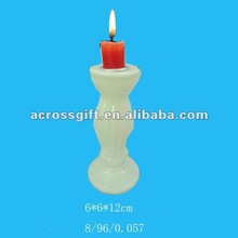 2012 christmas white candlestick ceramic