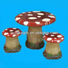 polyresin mushroom table&chair