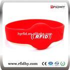 High quality nfc rfid personalized silicone pocket bracelets