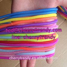 Spiral Bracelet/plastic spiral band/ Phone line bracelet Spiral Wrap Band
