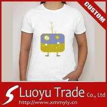 fashion t shirt print women rhinestones motif