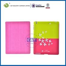 Fashion Custom Printing sleep and wake up leather case for ipad 2 3 4