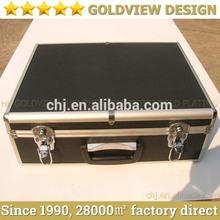 Aluminum truck tool box& portable aluminum tool box with Adjustable Dividers &Detachable Tool Pallet,Diamond pattern ABS panel