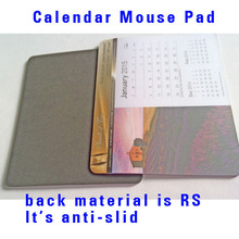 hot custom Antislid Calendar Mousepad with 12pages advertising