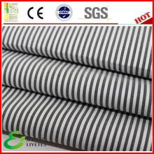 Cotton nylon spandex classic mens black white striped fabric