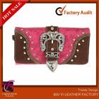 2014 new women fashion western rhinestone clutch leather wallet