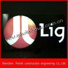 White-balck advertising frontlit LED channle letter sign with brushed backboard