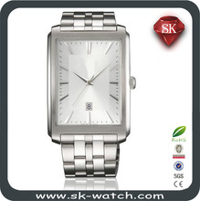 New trend stainless steel swiss wrist watch with date