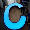 Grande boncan letra do alfabeto, metal letra grande, grande sinal de palavra