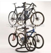 indoor gravity bicycle storage rack / four bicycles bike display rack (ISO SGS TUV approved)