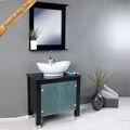 laca de color negro cuarto de baño natural hecho a mano muebles de bambú