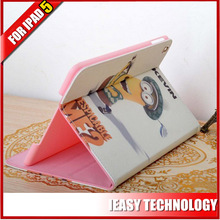 flip leather cover for ipad air 360 rotating case with magic sticker