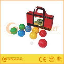 big bulk colored hard plastic balls bocce ball set
