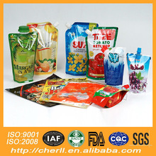 gravure soft plastic printed laminated packing materials green apple flavor beverage packaging