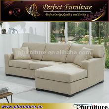 white nice living room lounge chaise fabric sofa bed 2014 corner Sofa PFS5845