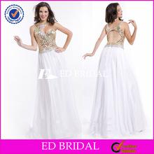 New Design Sleeveless Sexy Chiffon Gold Evening Dress Malaysia Online Shopping
