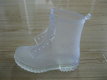 Fashion pvc transparent rain boots