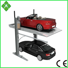 2 post 2 cars family garage mechanical car parking stack