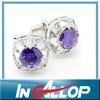 Purple pearl cuff link