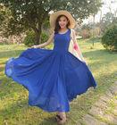Ladies fashion chiffon maxi dress
