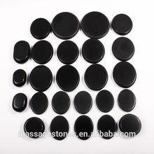 25pcs Black Hot Massage Stones Set Heating Massage Bed